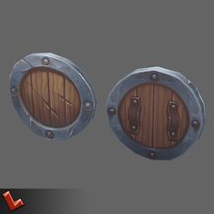 Low poly hand painted shield [Militia by oleglinkov If you purchase this item, please dont forget to rate it afterwards. Check other shields from Militia set:This is low poly hand p Prop Design, Game Design, 3d Design, Design Ideas, Shield Drawing, Hand Painted Textures, Game Props, 3d Studio, Weapon Concept Art