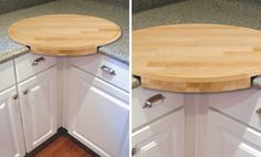 kitchen corner cutting board....how fabulous is this?? Need!