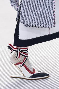 Thom Browne at Paris Fashion Week Spring 2020 - Details Runway Photos Thom Browne, Rick Owens, Fendi, Gucci, Spring 2015 Fashion, Daily Fashion, Fashion Fall, Sock Shoes, Shoe Boots
