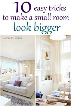 I had no idea it was so easy to make a small room look bigger! These easy tricks are so helpful for small home living! | decorbytheseashore.com