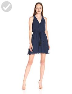 BCBGeneration Women's Halter Dress with Tie, Dark Navy, Medium - All about women (*Amazon Partner-Link)