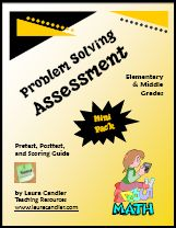 Free Problem Solving Assessment ebook - includes 4 levels of pretests and 4 levels of post tests
