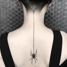 Spider net tattoo on back Healed on @scardoodles by @smick_tattooer