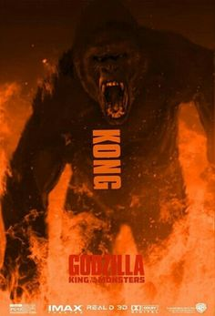 King Kong in Godzilla King of the Monst All Godzilla Monsters, Godzilla Comics, Kaiju Size Chart, King Kong Skull Island, Godzilla Wallpaper, Godzilla Birthday, Old Posters, Monster Names, Strange Beasts