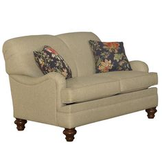 Coaster Transitional Norah Antique Inspired Cream 2 Seat