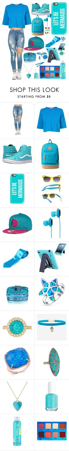"""""""Blue Back To School Vibes"""" by the-sad-boy-gang ❤ liked on Polyvore featuring L.K.Bennett, Vans, Casetify, SOL Republic, Bling Jewelry, Rock 'N Rose, Anne Sisteron, Jennifer Meyer Jewelry, Essie and COOLA Suncare"""