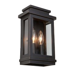 Fremont Oil Rubbed Bronze Two Light 11.25 Inch High Outdoor Wall Sconce Artcraft Wall Moun