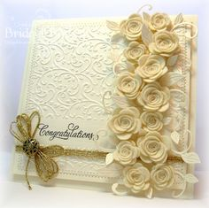 Wow!!  Bridget is one talented lady!  This card is on her blog-Bridget's Paper Blessing