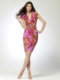 BRIGHT ON TIME | Python Wrap Dress | Caché