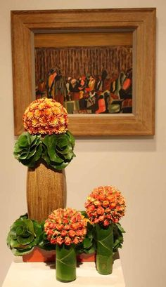 Floral Designer: VelaFlor, Ricardo Aguilar. Art Piece: Jacob Lawrence, Migration