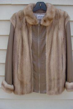 Vintage Womens Leather &  Mink Fur Coat   ME4