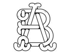 AB Monogram logo design