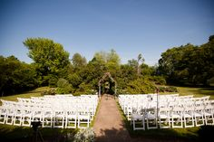 """It didn't take Becca and Kyle long to find the perfect place to say """"I do."""" They selected their venue, Raspberry Plain, just one week after they got engaged, to be exact! Kyle Long, Leesburg Virginia, Formal Gardens, Getting Engaged, Becca, Spring Wedding, Perfect Place, Wedding Ceremony, Raspberry"""