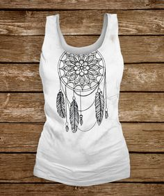 Urban Threads: Dreamcatcher embroidery makes a simple summery statement on a tee.