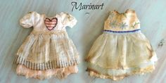 2  Blythe doll dresses    RESERVED by PetiteAppleShop on Etsy