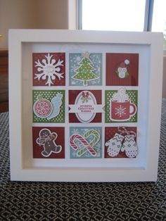 Christmas framed shadow box Collage. Stampin Up. by Tammy Morabito