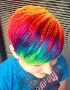 hair, hair color, rainbow hair, rainbow, Ursula Goff hairstyling