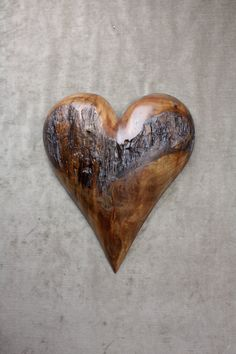 Personalized wedding gift Wood Heart wood carving by treewiz, $135.00
