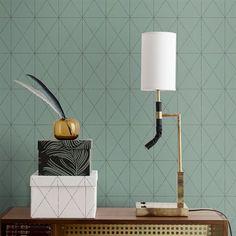 Papier peint Otto - turquoise clair - Sandberg Wallpaper