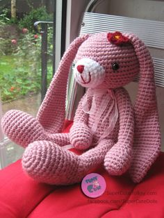 Crochet Amigurumi Large lop eared rabbit, lop eared bunny - think it's same pattern as bear on ravelry just with long ears - the link is gone