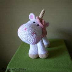 Looking for crocheting project inspiration? Check out Luna the unicorn by member Madisoncrftnook.