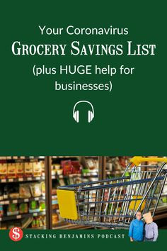Your Coronavirus Grocery Savings List (plus HUGE help for businesses) Sandy Smith, Say Hello, Grocery Store, Have Fun, Internet, Signs, Learning, Business, Shopping