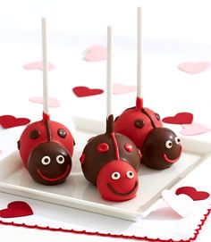 These Valentine's Love Bug Brownie Pops are almost too cute to eat… almost. Celebrate your love bug with fudgy pops, handmade in the shape of ladybugs.