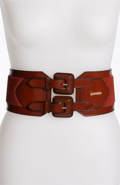 Burberry Leather & Suede Belt | Nordstrom