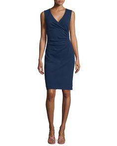 Layne Ruched Sheath Dress, Midnight (Black), Women's, Size: 8 - Diane von Furstenberg