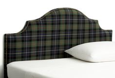 One Kings Lane - Runway-Ready Rooms - Cormac Headboard, Navy Plaid