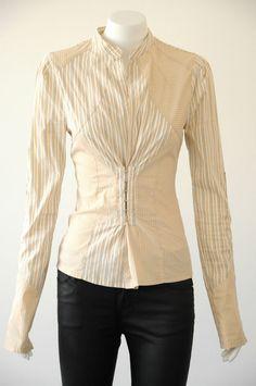 Scanlan & Theodore  Women s Striped Long Sleeve Blouse EUC {Size 8}