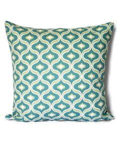 Teal Modern Geometric Throw Pillow