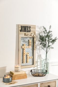 Glue Magnets To Alphabet Tiles For A Trendy Take On Message Board Decor!  Diy Projects