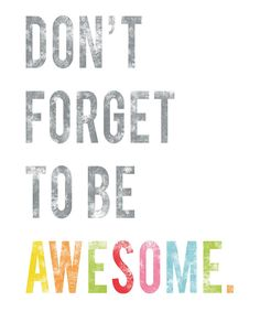 'Be Awesome' Print | Daily deals for moms, babies and kids
