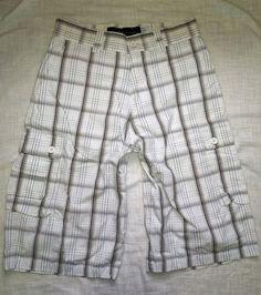"#Rocawear #CargoShorts #Plaid Men Sz M,L  32"" #MensShorts #MensFashion"