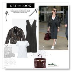 Olivia Palermo by gabriela2105 on Polyvore featuring moda, Lands' End, Rebecca Minkoff, Moncler and Hermès