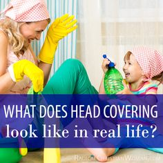 I've asked some of the wonderful ladies in my head covering group to share their photos of everyday head covering in real life situations.