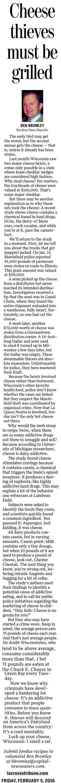Cheese Thieves Must Be Grilled (La Crosse Tribune Feb 5, 2016)