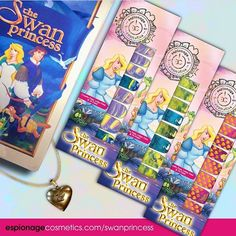 We're so excited to bring this enchanting Swan Princess nail wrap collection to you! All three designs are available for preorder at espionagecosmetics.com/swanprincess or at the link in our profile. 💖 . . . #espionagecosmetics #espionage_cosmetics #nailart #manicure #swanprincess #instanails #90s #90sfashion #animation #nailwraps #naildesign