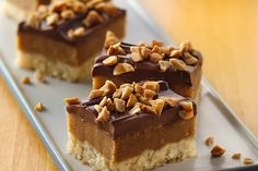 Chewy Peanut Butter Caramel Bars