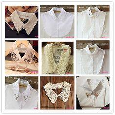 New Fashion women PeterPan Detachable fake Collar shirt choker Necklace scarf Poo, New Fashion, Fashion Women, Diy Tops, Collar Shirts, Chokers, Ruffle Blouse, Best Deals, Clothes
