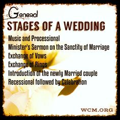 Do you Love Weddings?   Would you like to be near the action all the time?  Become a Wedding Minister and make $$$ uniting couples in Holy Matrimony while sharing God's Love.   Learn more about Ordination: http://www.wcm.org/html