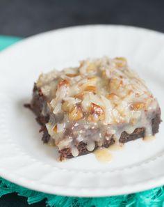 German Chocolate Brownies - Brown Eyed Baker - A Food & Cooking Blog