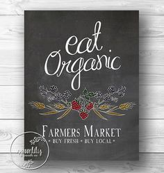 like the typography and layout - Farmers Market  Eat Organic  Quote printable art by SpoonLily, $5.00
