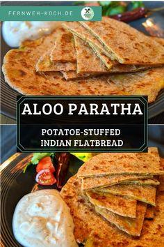 #India #Potatoe #Flatbread #Fingerfood #Recipe Eating Well, Clean Eating, Indian Flat Bread, Gabel, International Recipes, Food Art, Germany, Lunch, Vegan