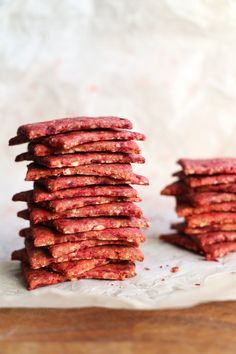 Beetroot and Buckwheat Crackers - Nirvana Cakery
