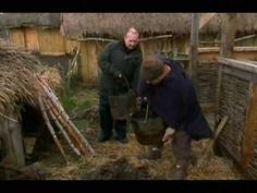 Making History - Shelter (wattle & daub) This guys are actually kind of unskilled in thier mixing. A good cob worker would add more sand and make it set like concrete. Medieval Houses, Medieval Life, Survival Prepping, Survival Skills, Wattle And Daub, Cob Building, Watch Engraving, Garden Design Plans, Natural Homes