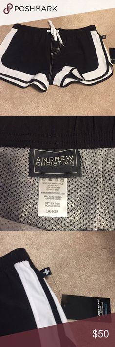 *NWT* Andrew Christian swimsuit Never worn before!  Size large. Has a netting inside. Andrew Christian Swim Swim Trunks