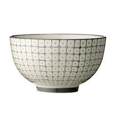Bol en céramique avec imprimé gris Carla Bloomingville 11,90€