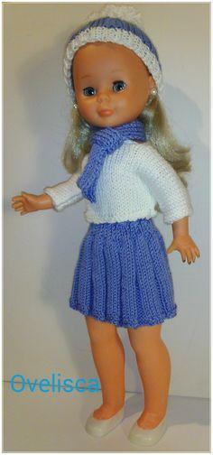 Conjunto otoñal azul y blanco para Nancy